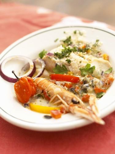 Moqueca de poisson (Fish ragout with palm vinegar, S. America)