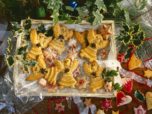 Christmas biscuits: angels, stars, hearts