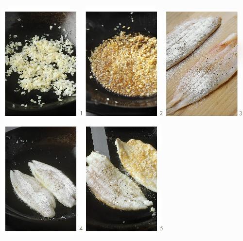 Preparing Balinese crispy fish (fried fish fillet)