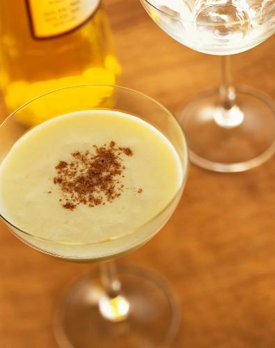 Golden Cadillac: cocktail made with Galliano & Creme de Cacao