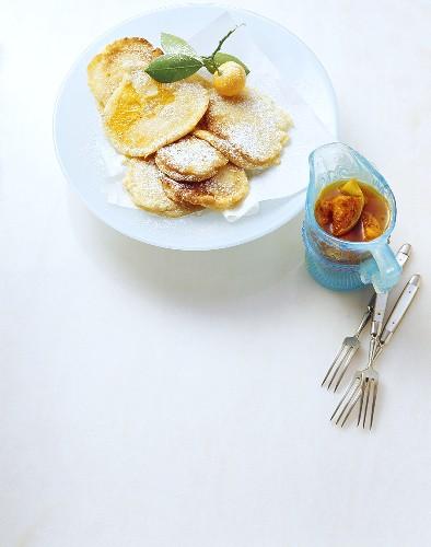 Frittelle di arance (orange fritters), Sicily, Italy