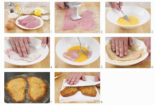 Panierte Kalbsschnitzel zubereiten