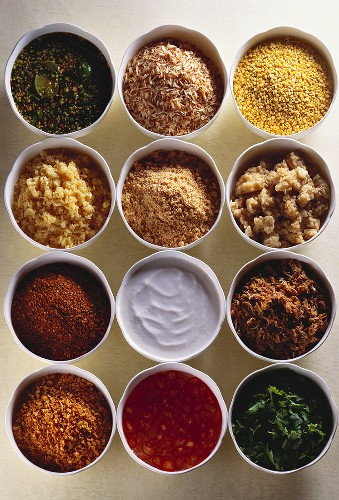 Spices, sauces and other ingredients for Asian cuisine