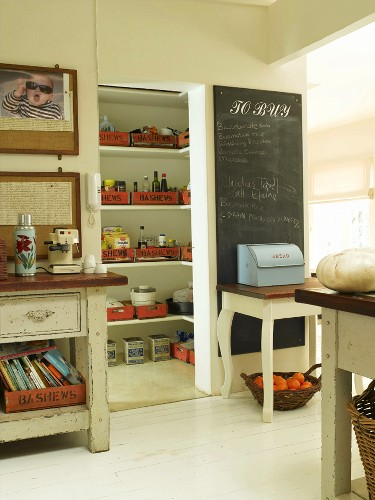 View into pantry