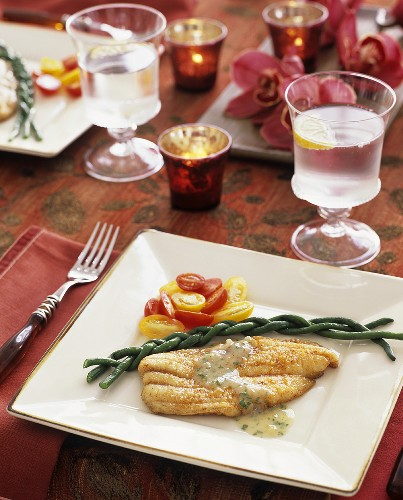 Catfish fillet with vegetables