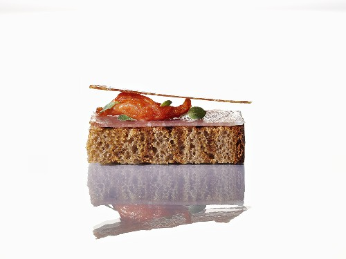 Toasted bread with culatello and tomatoes