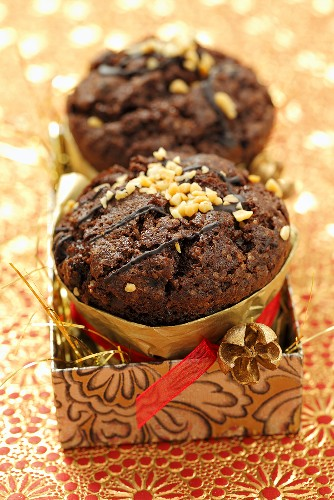 Chocolate muffins as a Christmas present