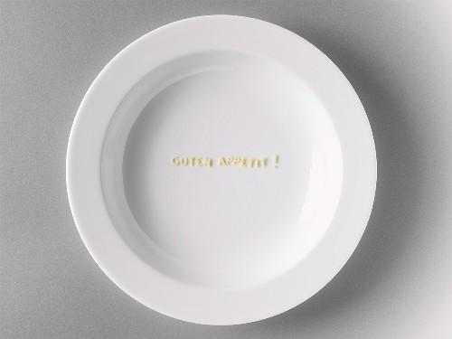 Alphabet pasta on plate