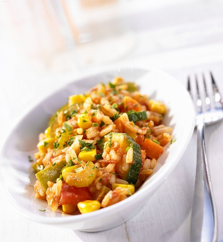 Rice and vegetable stew