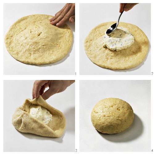 Making Russian quark bread