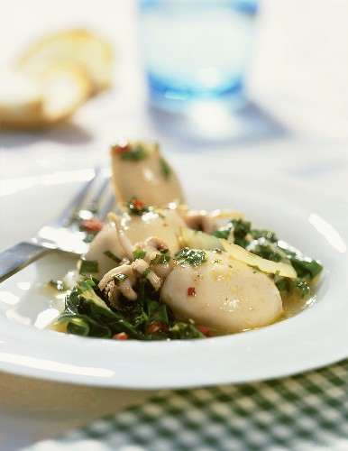 Seppie in zimino (braised cuttlefish), Tuscany, Italy
