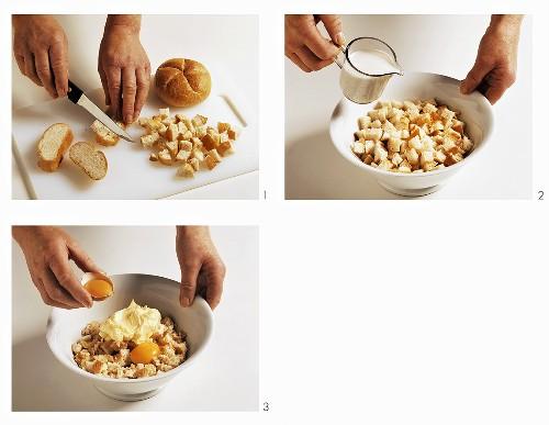 Making bread dumpling mixture
