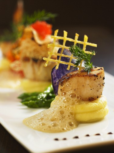 Culinary creation with scallop