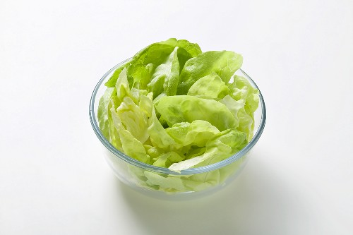 Washed lettuce