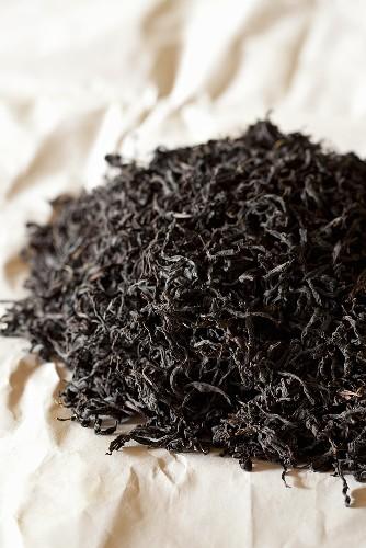 Orange pekoe tea leaves from Sri Lanka