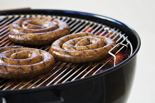 Boerewors (South African sausages) on barbecue