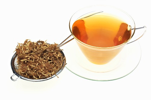 Tea made from silk tree flowers (Flos Albiziae)