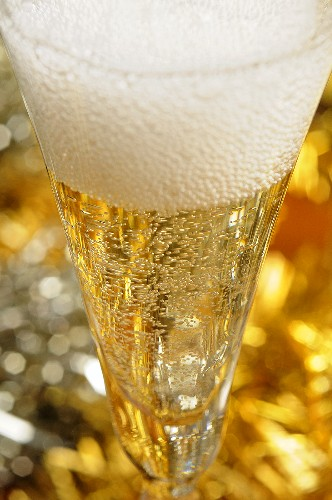 Glass of champagne (Christmas)