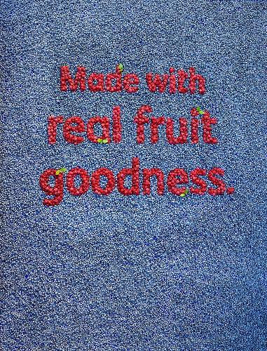 Sign written in berries