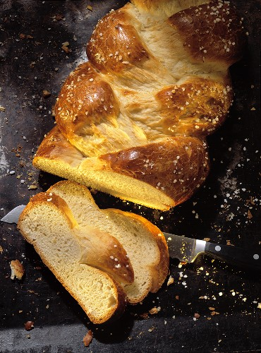 Plaited yeast loaf