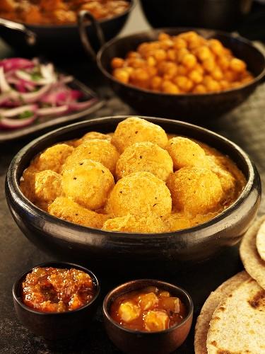 Kashmiri dum aloo (Kashmir-style potato curry), India