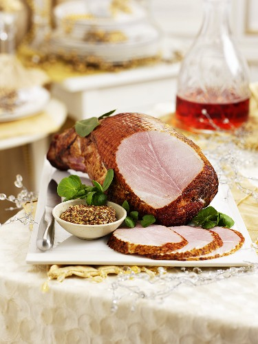 Ham and mustard for Christmas dinner