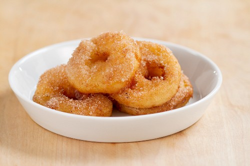 Apple fritters with cinnamon sugar