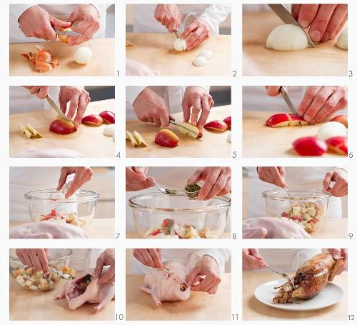 Ente mit Apfelfüllung zubereiten