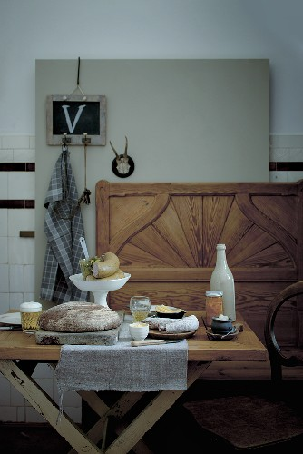 Supper on a rustic table