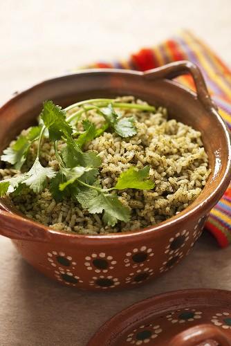 Arroz verde (Green rice, Mexico)