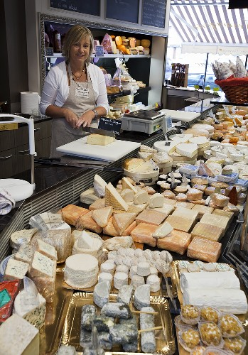 A cheese shop in Bergues, France