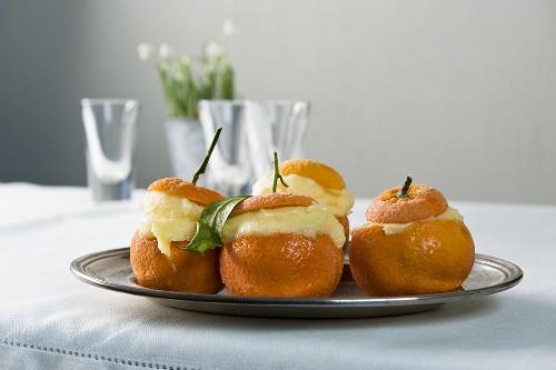 Mandarini gelati (mandarin sorbet)