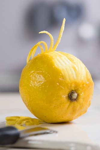 A lemon being zested
