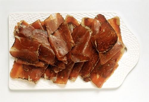 Grisons Jerked Beef on White Board