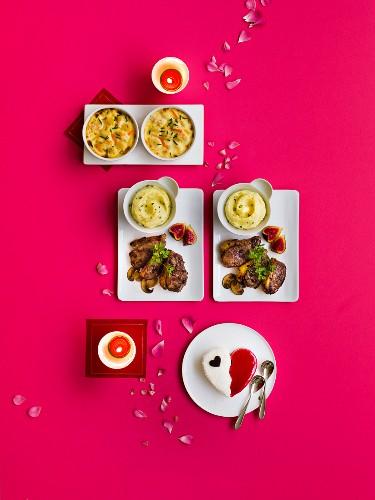 Saint Valentines menu