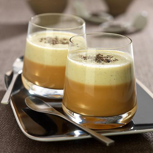 Toffee and vanilla cream dessert duo