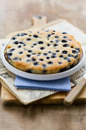 Large blueberry Financier cake