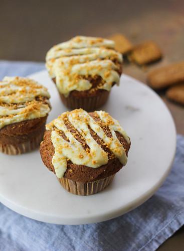 Muffins mit Spekulatiustopping