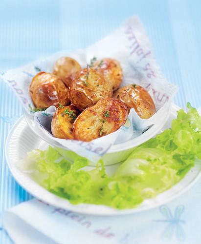 Ofenkartoffeln mit frischem Thymian