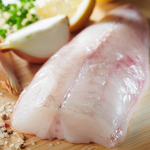 Raw monkfish fillet