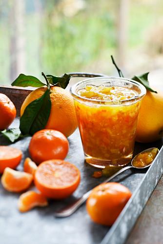 Orange and clementine jam