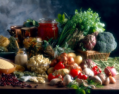 Composition of vegetables and starchy foods