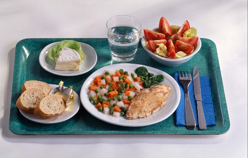 Meal on a tray