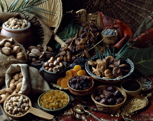Selection of dried fruit