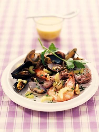 seafood and celery salad