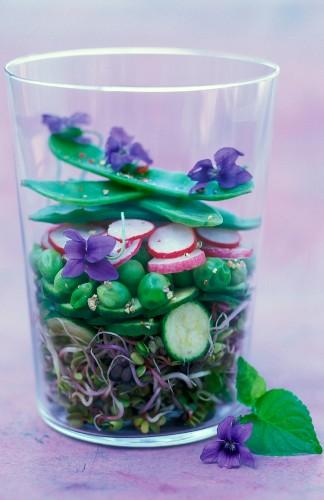 fresh violet salad