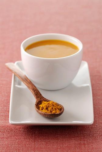 Marrow soup with ras el hanout