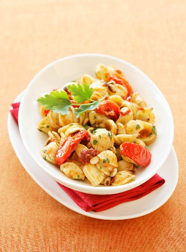 Orecchiettes with dried tomatoes