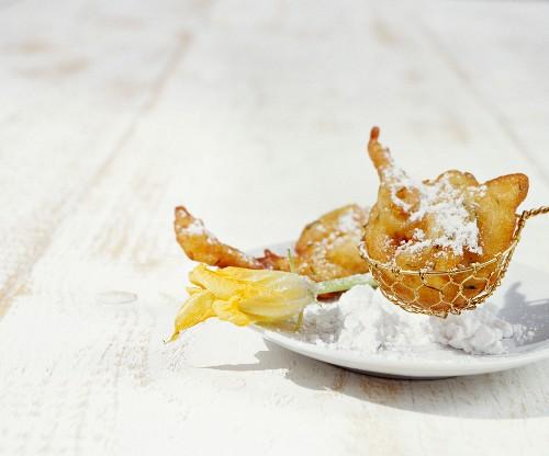 Courgette beignets with orange blossom