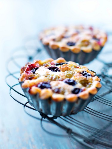 Amandine and grape tartlet